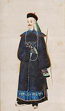 Twenty-four Chinese rice paper pictures of courtly