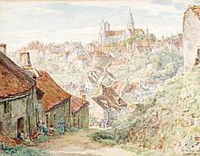 Thomas Matthews Rooke (1842-1942), Hillside town,