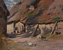 Frederick Hall (1860-1948) - A Cottage at Blewberry