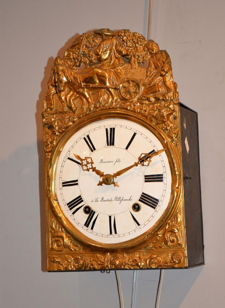 A Comtoise Wall Clock With Eight Day Bell Striking Movement