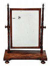 A George IV mahogany dressing table mirror, circa