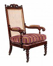 A William IV simulated rosewood armchair, circa
