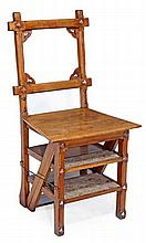 A Gothic metamorphic library chair, circa 1870,