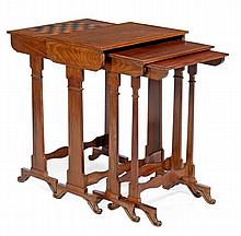 A William IV nest of four quartetto tables, circa