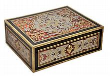 A Regency Boulle work and ebonised casket, circa