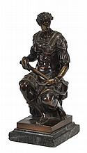 After Michelangelo Buonarroti, a patinated bronze