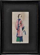 Eight Chinese rice paper paintings of court