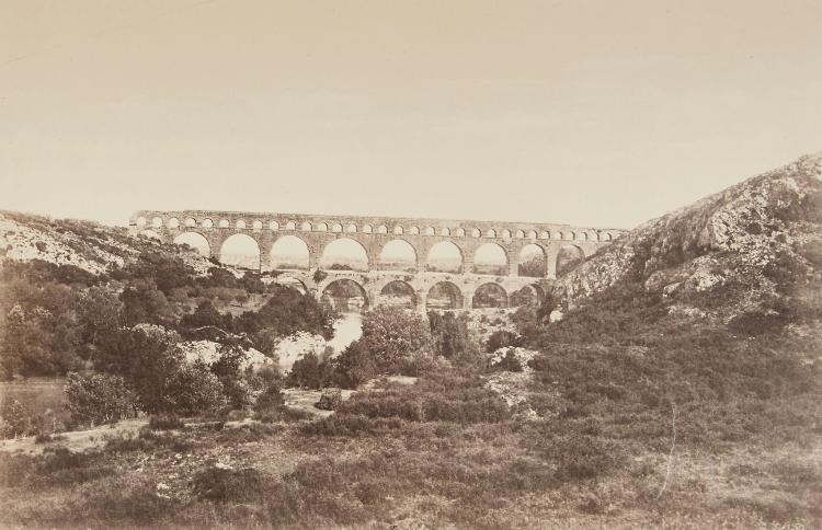 Édouard Baldus (1813-1889) - Pont du Gard, 1860; and two others