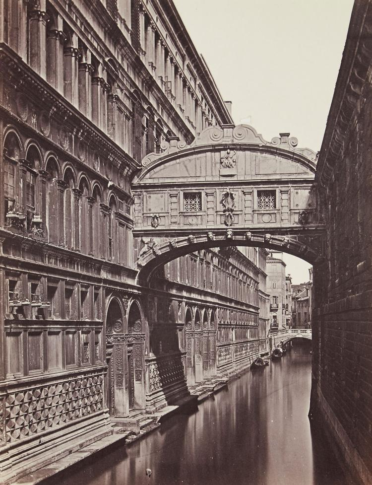 Carlo Ponti (1823-1893) - The Bridge of Sighs, 1860; Piazza San Marco, ca.1862