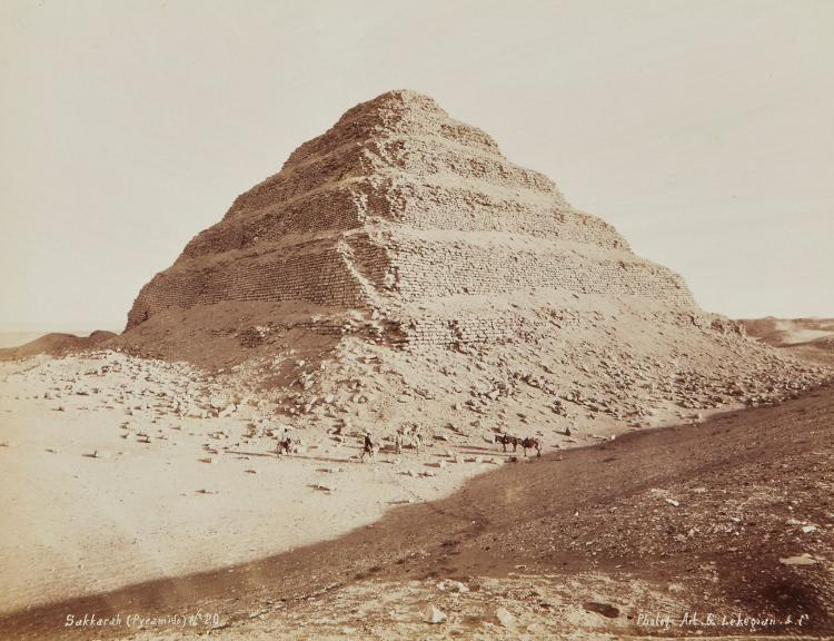 Gabriel Lekegian and Co. (active 1880s-1900s) - Sakkarah, Pyramide, 1880s