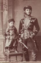 Dmitri Ivanovich Ermakov (1846-1916) - Young Man and Kid in the National Clothes from Region Guria, Georgia, 1880s