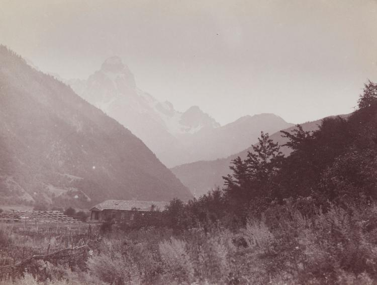 Vittorio Sella (1859-1943) - Views of the Ushba Peak, 1880s