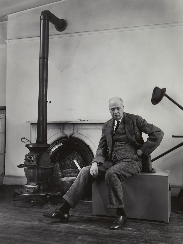 Berenice Abbott (1898-1991) - Edward Hopper, In His Studio, 1948