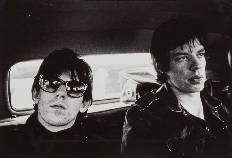 Gered Mankowitz (b.1946) - Mick Jagger and Keith Richards in Limo, 1965