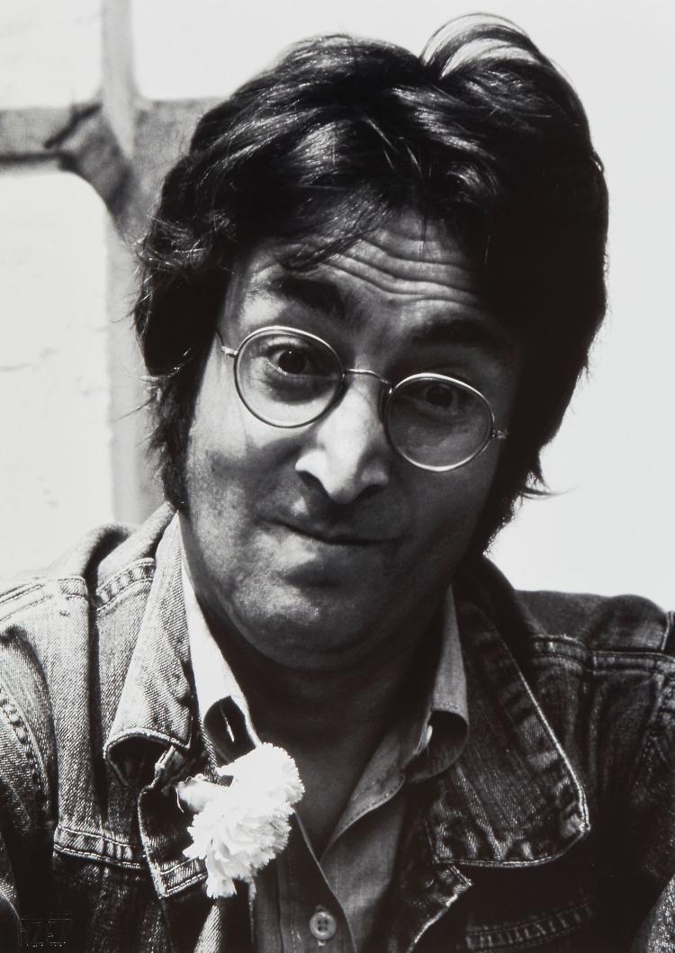 Jean Pierre Fizet (b.1942) - John Lennon, Cannes, 1971