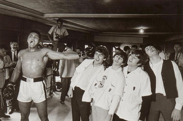 Chris Smith (b.1937) - Ali Versus the Beatles, 1964