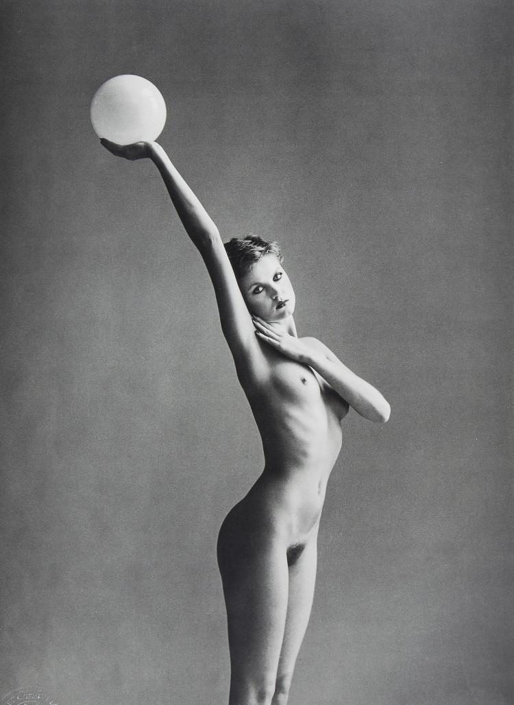 John Swannell (b.1946) - Nude with Ball, ca. 1980