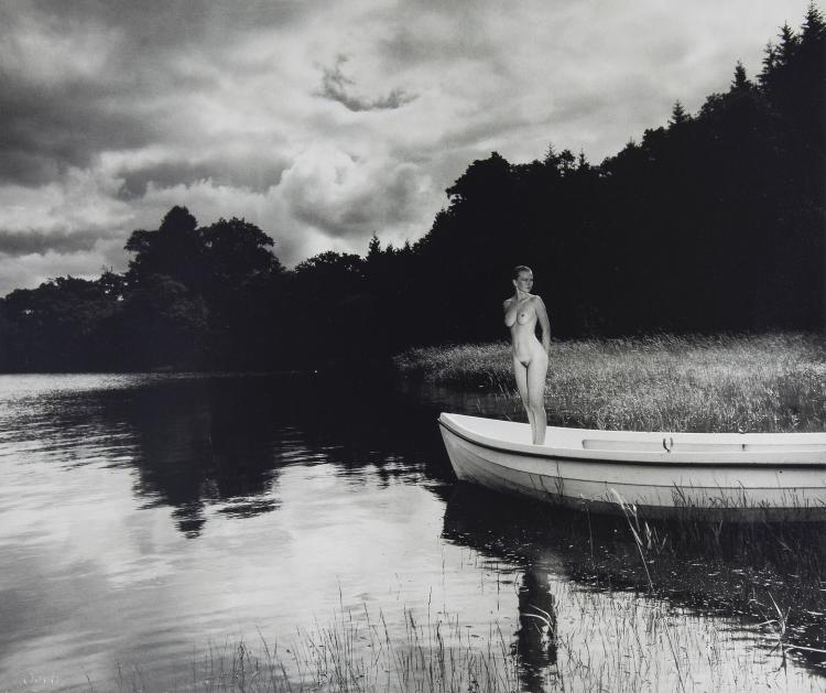 John Swannell (b.1946) - Nude in a Boat, ca. 1980