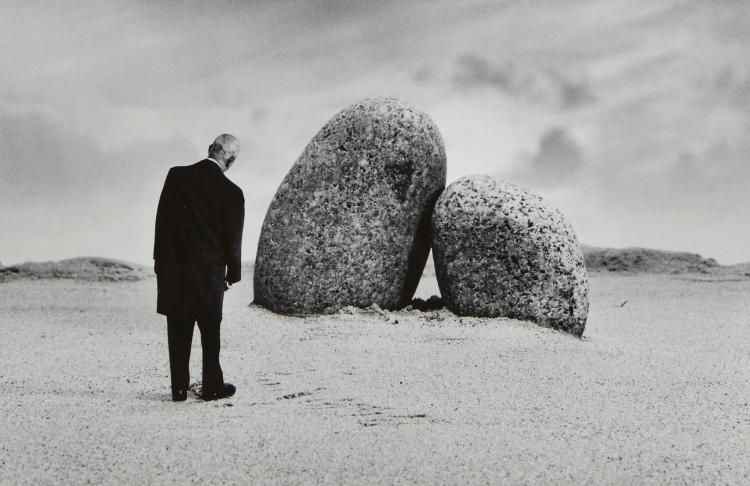 Gilbert Garcin (b.1929) - The Lovers of Perros-Guirec, 2001