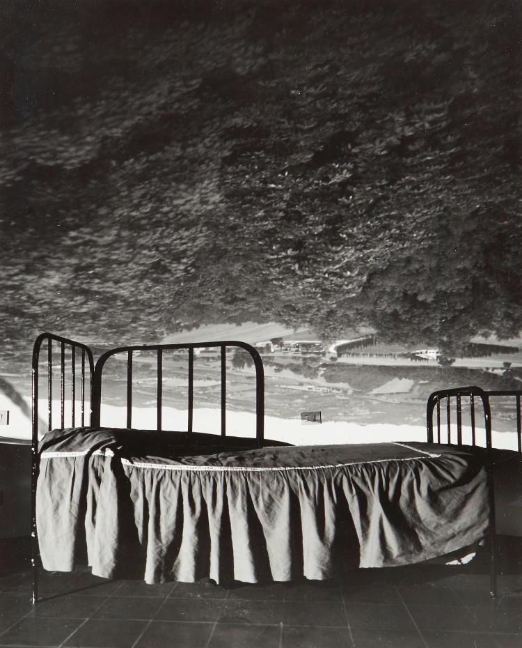 Abelardo Morell (b.1948) - Camera Obscura Image of Umbrian Landscape over Bed, 2000