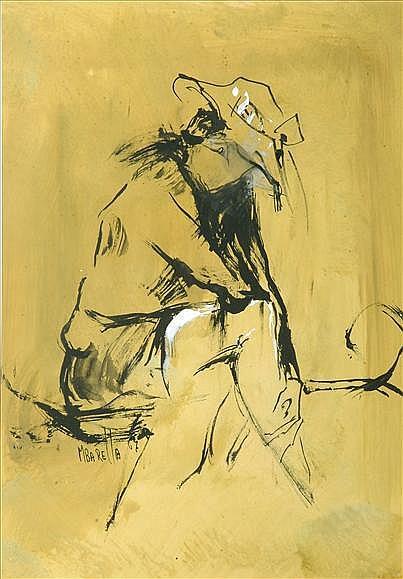Michele Baretta (1916-1987) Study of a seated