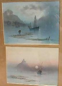 Garman Morris (late19th century). Two watercolours. 'Gorey Castle - Channel Islands' and 'St Michaels Mount', Cornwall. Signed and titled 23.1x31cm. F&G. (2).
