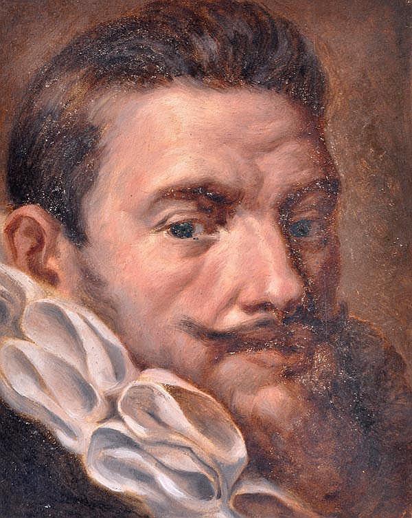 Follower of Hans von Aachen Portrait study of a