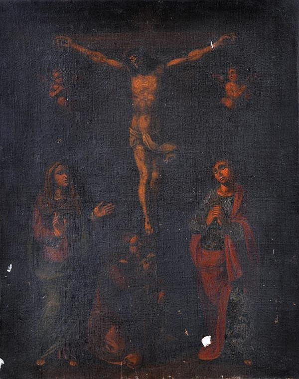Italian School (18th century) The Crucifixion with