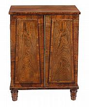 A William IV rosewood collector's cabinet, circa