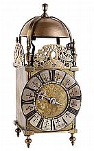 A William and Mary brass lantern clock, William
