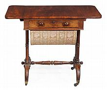 A Regency rosewood and boxwood strung sofa table,
