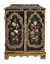 A Victorian parcel gilt and mother-of-pearl inlaid
