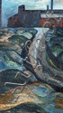Brian Bradshaw (b.1923) Raikes Lane Oil on canvas