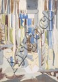 Anne Bonnet (1908-1960) Window study Mixed media