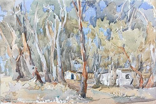 Margaret Hebe (Maisie) Waite (1907-1886) Gum Trees