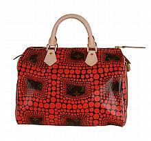 Louis Vuitton, Yayoi Kusama, Monogram, Red Waves, Speedy 30