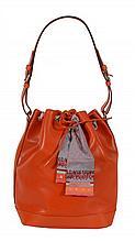 Louis Vuitton, Noe, an orange Epi leather shopping tote