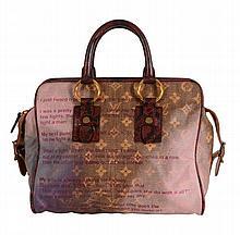 Louis Vuitton, Richard Prince, Jokes LE, a canvas and karung snakeskin handbag