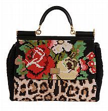 Dolce & Gabbana, Miss Sicily, Tapestry, a cross stitch shoulder bag