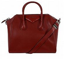 Givenchy, Antigona, a medium red leather tote bag