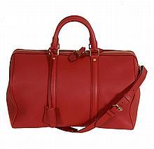 Louis Vuitton, Sofia Coppola, a cherry red calf leather handbag