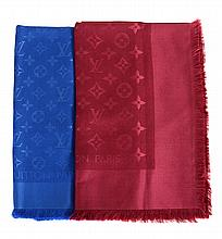 Louis Vuitton, Monogram, a silk and wool fringed square shawl