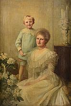 Edith Fortunée Tita de Lisle (1866-1910) - Portrait of a Lady Annie Cassandra Waring (nee Hill) with her son Harold