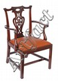 A George III mahogany armchair, circa 1770, shaped