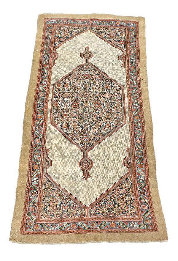 A Quashqai long rug, approximately 360cm x 153cm