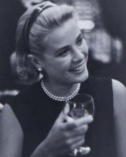 Edward Quinn (1920-1997) - Grace Kelly During a Press Cocktail Party at The Carlton Hotel, Cannes, 1954