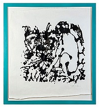 Gary Hume (b. 1962) Monkey Man, 1996 poured ink on