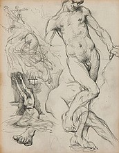 Sir William Orpen (1878-1931) Sheet of sketches,