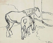 Harold Gilman (1876-1919) Untitled pen and ink on