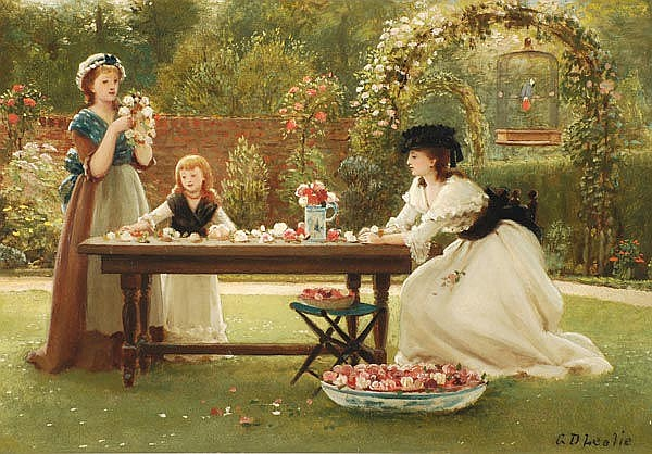 George Dunlop Leslie (1835-1921) A feast of roses,